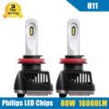 2x 80W H11 LED Headlight Conversion Kit 16000LM High/Low Beam Bulbs 5700-6000K Car Truck HID Replacement Super Bright Headlamp