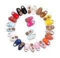Retail Nuevos Mocasines Zapatos de Bebé de Cuero de la pu solid lace up Zapatos de Bebé Recién Nacido primer caminante Del Bebé Zapatos de suela de goma dura