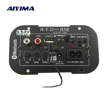 AIYIMA Subwoofer Amplifier Board Car Bluetooth Audio Amplifiers 12V 24V 220V For 5-8inch Speakers DIY