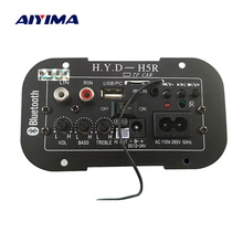 AIYIMA Subwoofer Amplifier Board Car Bluetooth Audio Amplifiers 12V 24V 220V For 5 8inch Speakers DIY