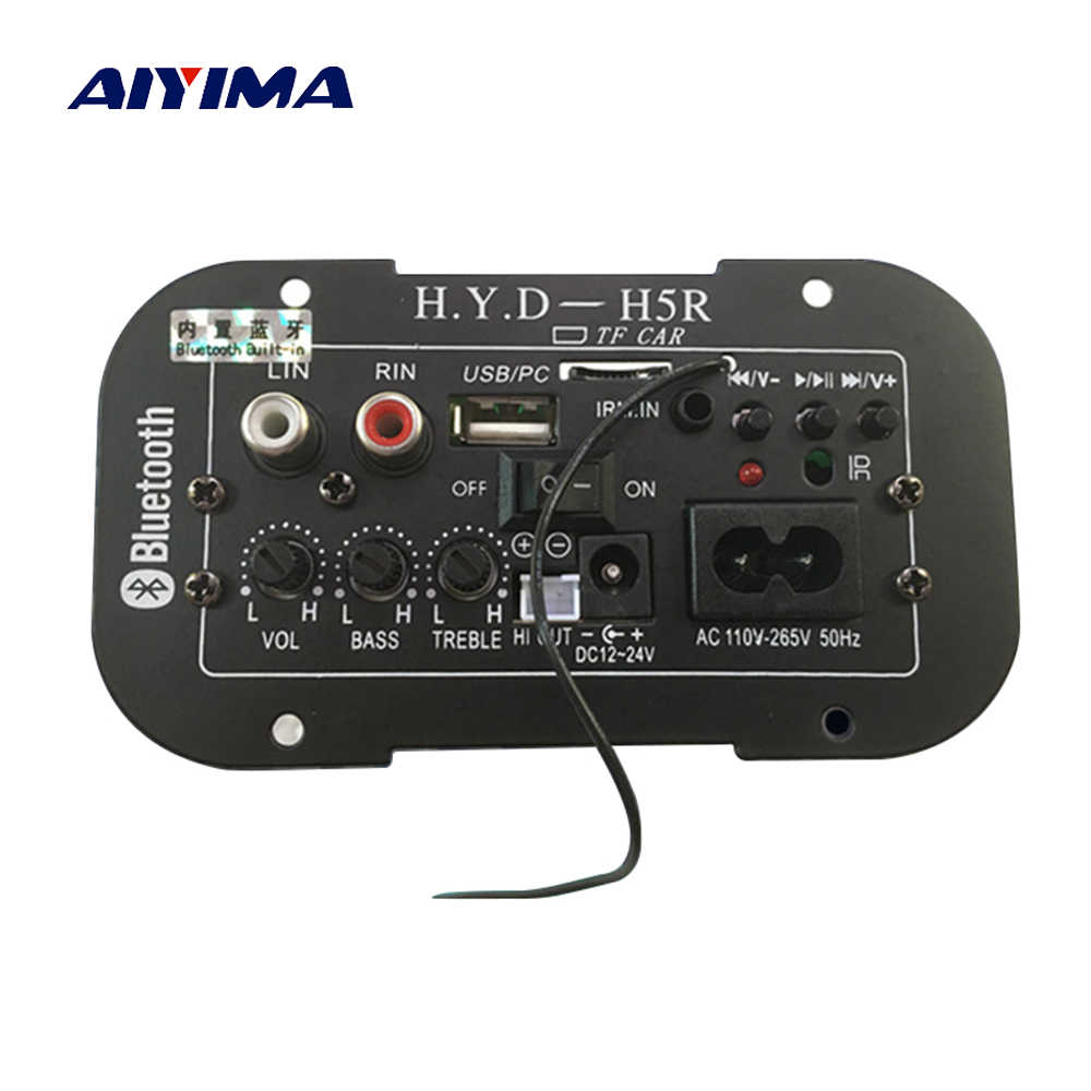 AIYIMA Subwoofer Amplifier Board Car Bluetooth Audio