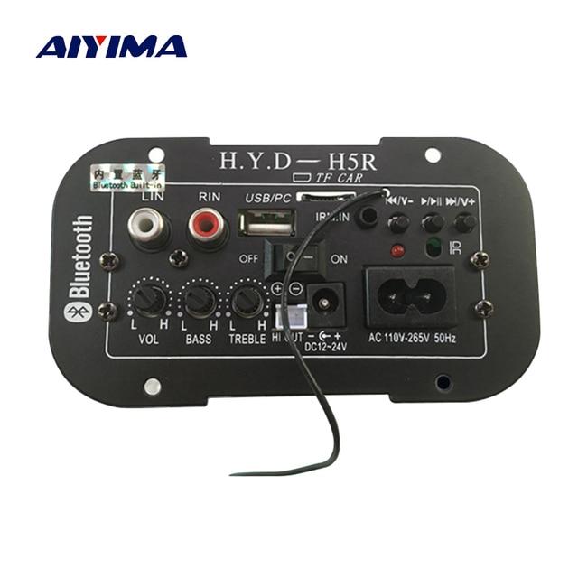 AIYIMA Subwoofer amplificador de coche Bluetooth amplificadores de Audio 12 V 24 V 220 V para 5-8 pulgadas altavoces DIY