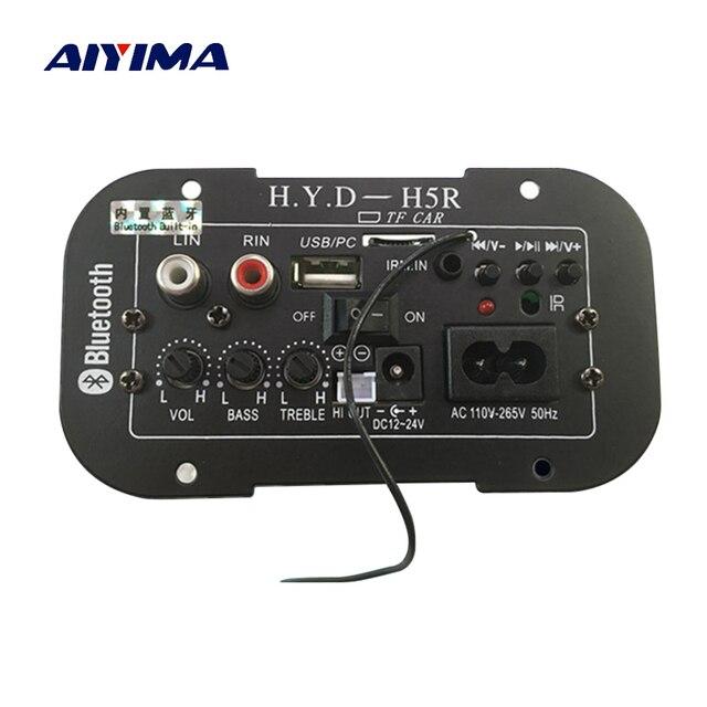 AIYIMA caisson de basses amplificateur carte voiture Bluetooth Audio amplificateurs 12V 24V 220V pour 5 8 pouces haut parleurs bricolage