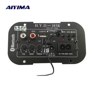 Image 1 - AIYIMA placa amplificadora para Subwoofer, amplificador de Audio Bluetooth para coche, 12V, 24V, 220V, para altavoces de 5 8 pulgadas, bricolaje