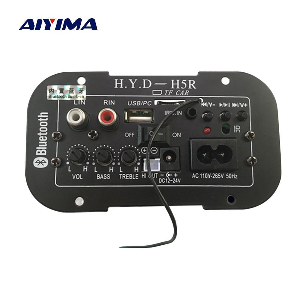 Aiyima Subwoofer amplificador tablero coche Bluetooth Audio amplificadores 12 V 24 V 220 V para altavoces de 5 pulgadas 8 DIY