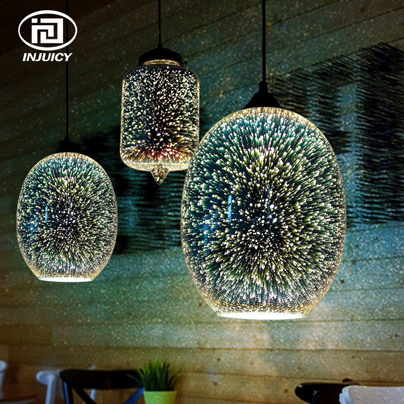 Modern Novelty Chandelier Lights Restaurant Bar Lamp Living Room Coffee Shop Glass Hanging Light Fixtures Carefully Selected Materials Chandeliers Ceiling Lights & Fans