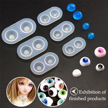 QiaoqiaoDIY Doll Eyes Silicone Jewelry Tools Expoxy Resin Mold Pendant Mirror Shaped Jewelry Accessories