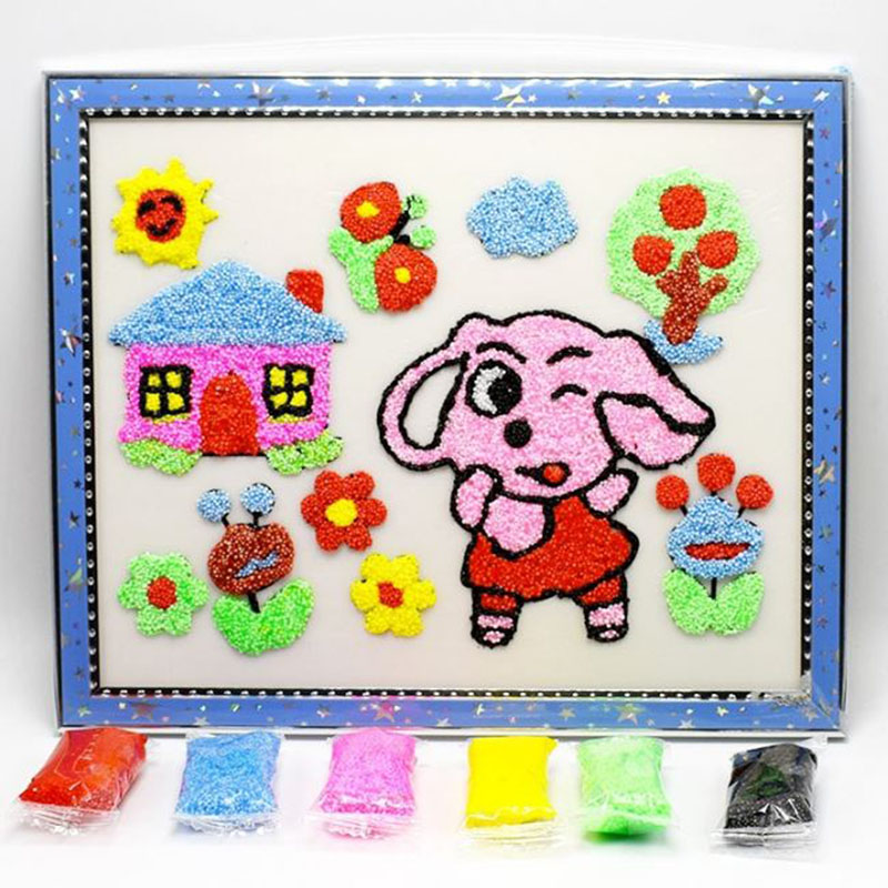 1 Pc Useful Snow Pearl Mud Painting Hand Painting Art Toys Drawing Play Dough Toys Set Board DIY Toy for Children