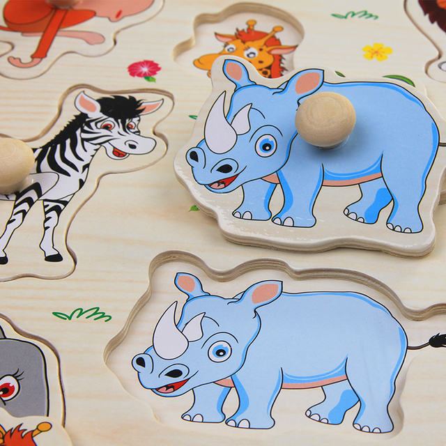 Children Montessori Wooden Puzzles