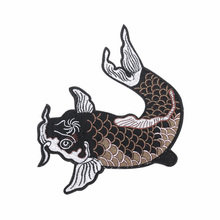 Hot Sale 1 Pc DIY Big Fish Embroidered Iron on Patch for Clothes Fabric Sticker Sewing Applique Garment Accessories