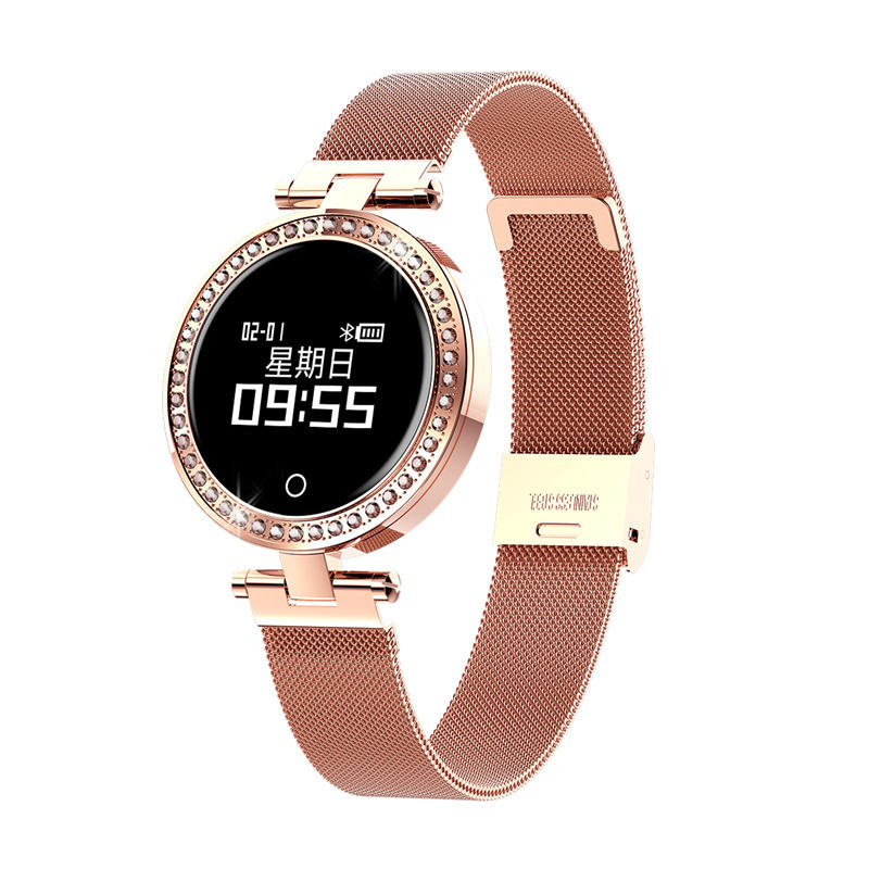 Milanese Smart wristband watch heart rate monitor blood pressure connect android and ios PK KW10 H1 H2 S6 X6  Women Smart watch Milanese Smart wristband watch heart rate monitor blood pressure connect android and ios PK KW10 H1 H2 S6 X6  Women Smart watch