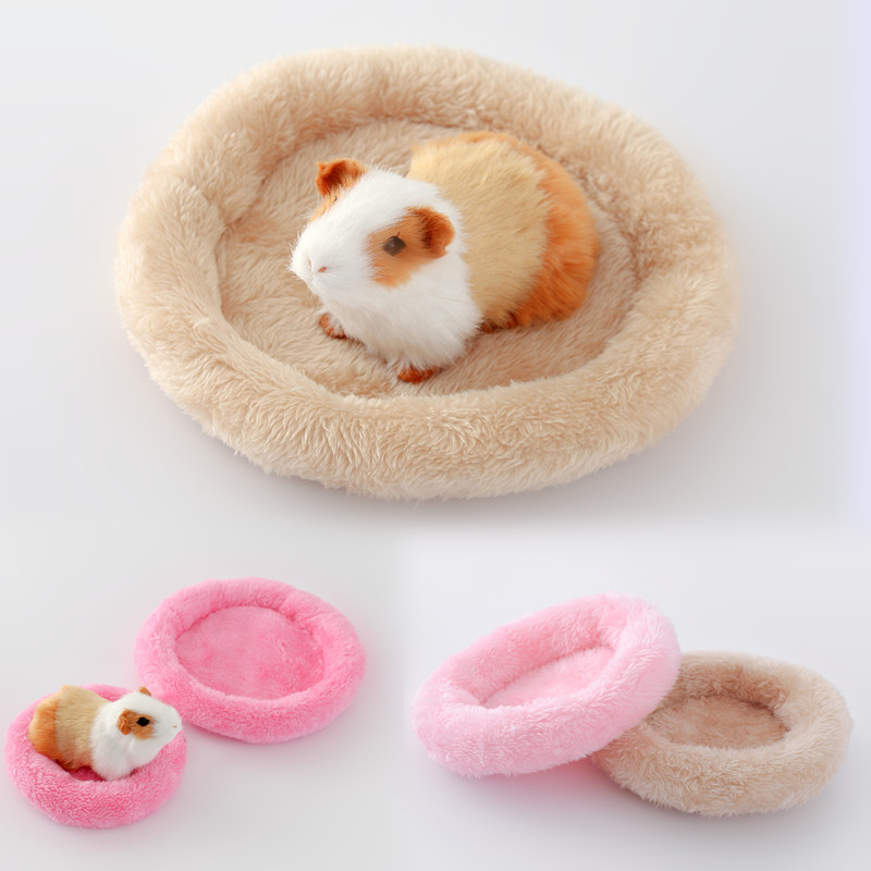 Winter Warm Hamster Bed Soft Wool Ferret Rat Guinea Pig Sleeping Pad Round Mat Squirrel Rabbit Small Animal Cage Pet Products 27