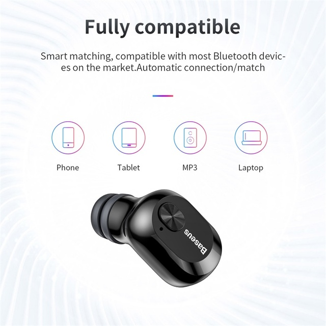 Baseus W01 TWS 5.0 Wireless Bluetooth Stereo Extra Bass Sports Earbuds