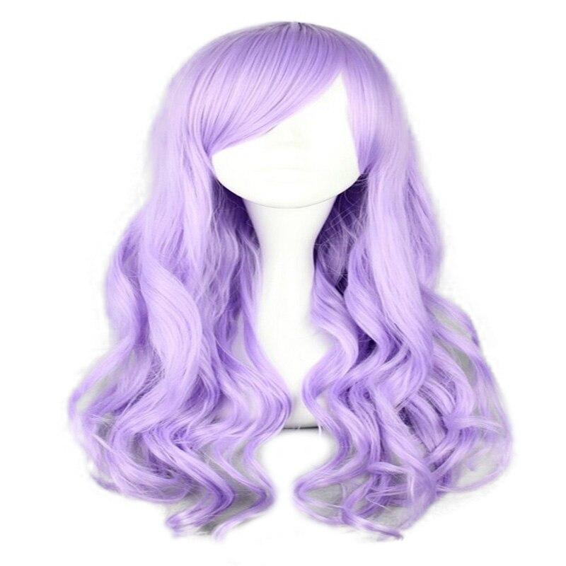 HAIRJOY Synthetic Hair Zipper 70cm Long Wavy Harajuku Lolita Cosplay Wig 18 Colors Available 3