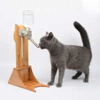 Dog Drinking Water Device Wooden Support Frame Pet Dog Cat Storage Barrel Water Keep Fresh Pet Products