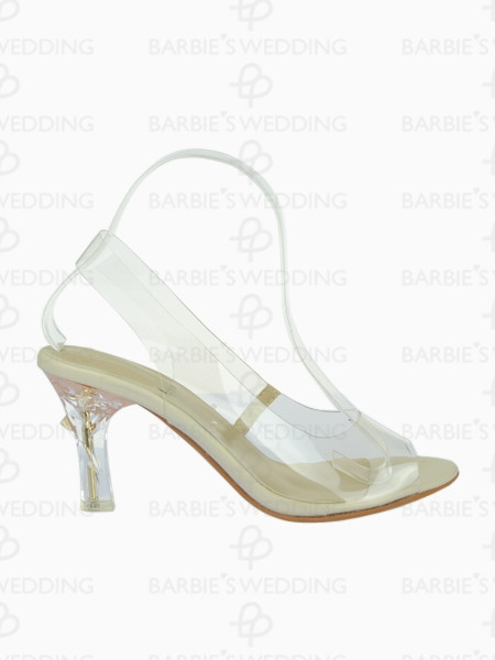 3109b318b3c PVC Peep Toe Perspex Heeled Sandals (WDS100070)-in Women s Pumps ...