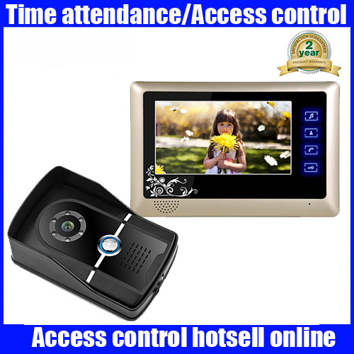 Best 7 Color Video Door Phone Doorbell Video Intercom Doorphone IR Night Vision Camera Monitor Kit for Home Security 7 inch video doorbell tft lcd hd screen wired video doorphone for villa one monitor with one metal outdoor unit night vision
