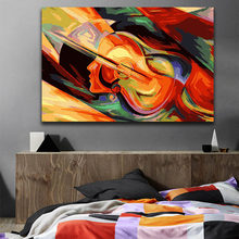 DIY colorings pictures by numbers with colors abstract guitar violin picture drawing painting framed Home(China)