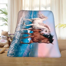 P#113 Custom Horse#22 Home Decoration Bedroom Supplies Soft Blanket size 58×80,50X60,40X50inch SQ01016@H+113