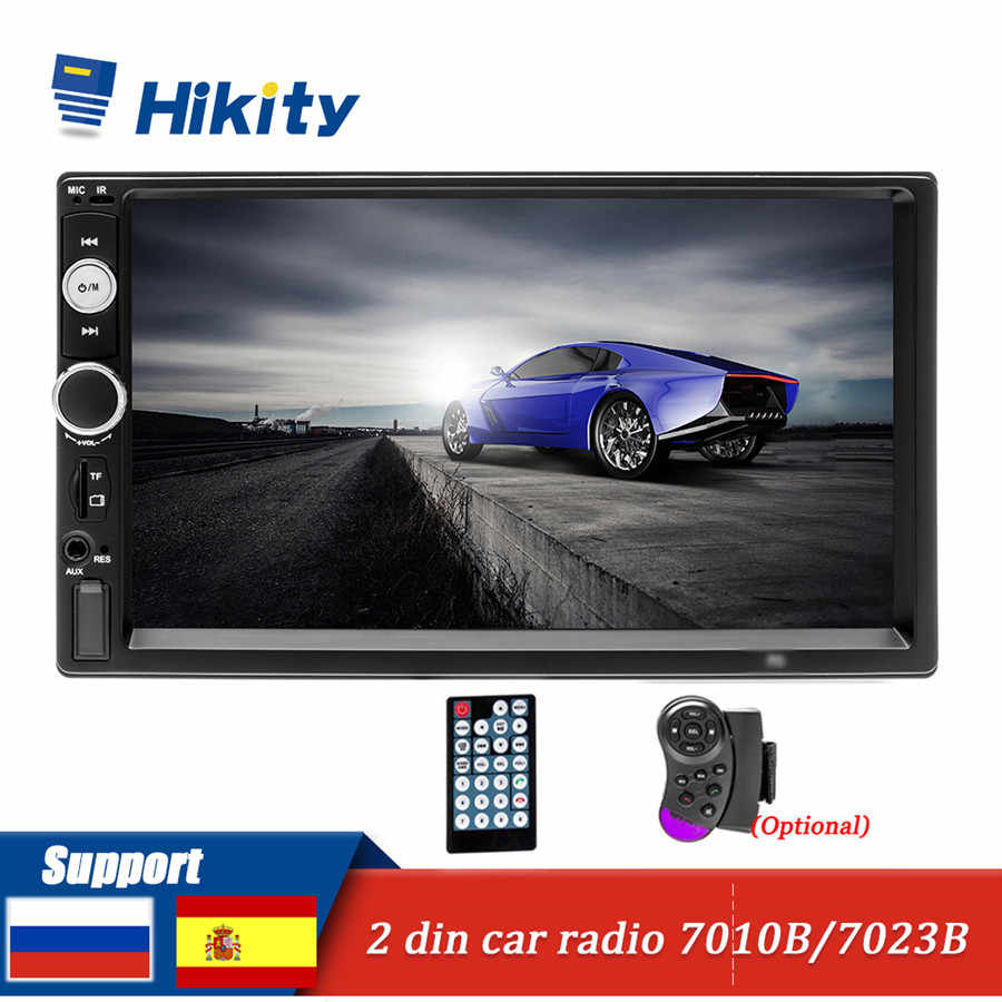"Hikity 2 din Auto Radio 2din 7 ""HD Autoradio Multimedia Giocatore Dello Schermo di Tocco Car audio Auto Stereo MP5 Bluetooth USB TF di FM AUX SD"