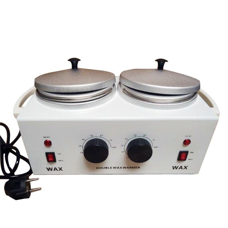 Double Wax Warmer Electric Paraffin Wax Heater Machine Device Hand Feet Depilatory SPA Skin Care For Women Beauty Machine