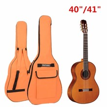 Waterproof 40/41 Inch Portable Oxford Fabric Guitar Double Straps Padded Soft Case Gig Bag Backpack