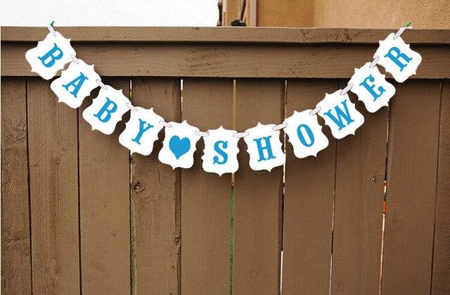 1set Boy Girl Baby Shower Banner Garlands Craft Happy Birthday Party