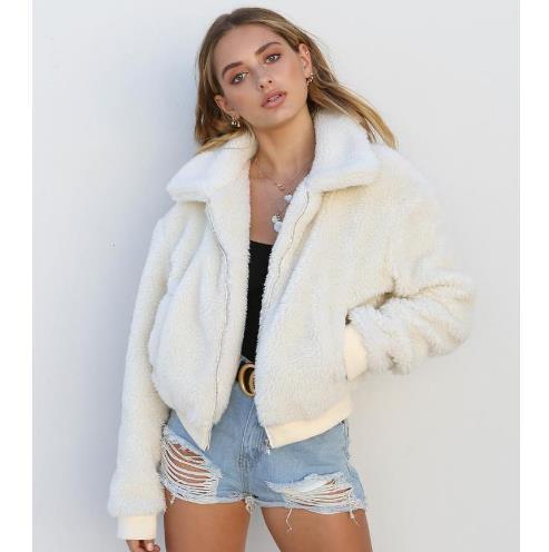 2019 Faux Jacket Coat Women Autumn Winter Warm Thick Teddy Coat Female Casual Overcoat Oversize Outerwear