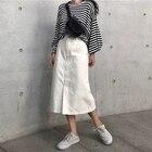 Denim Skirt Women Ko...