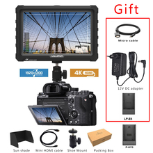 Lilliput A7S Black 7 Inch Utra Slim IPS Full HD 1920x1200 4K HDMI On camera Video Field Monitor for Canon Nikon Sony DSLR Camera