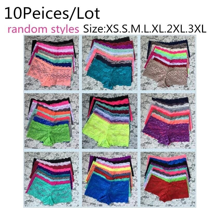 Mieriside Random 10pcs/lot Women Lace <font><b>Panties</b></font> Nice Comfortable Transparent <font><b>Sexy</b></font> Lingerie Ladies Briefs XS/S/M/L/XL/2XL/<font><b>3XL</b></font>/4XL image