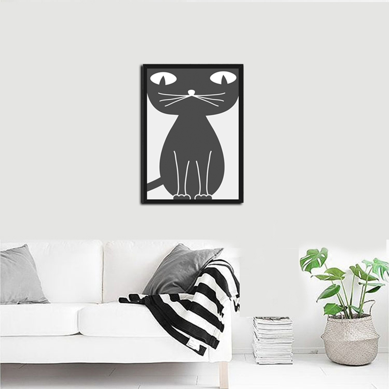 Online buy wholesale kitties pictures from china kitties for Best brand of paint for kitchen cabinets with set of 4 canvas wall art