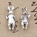 2 шт Подвески 3D стерео кролик 36x15 мм антикварная Подвеска подходит, винтажная тибетская Серебряная бронзовая, сделай сам для ювелирных изделий ручной работы - фото