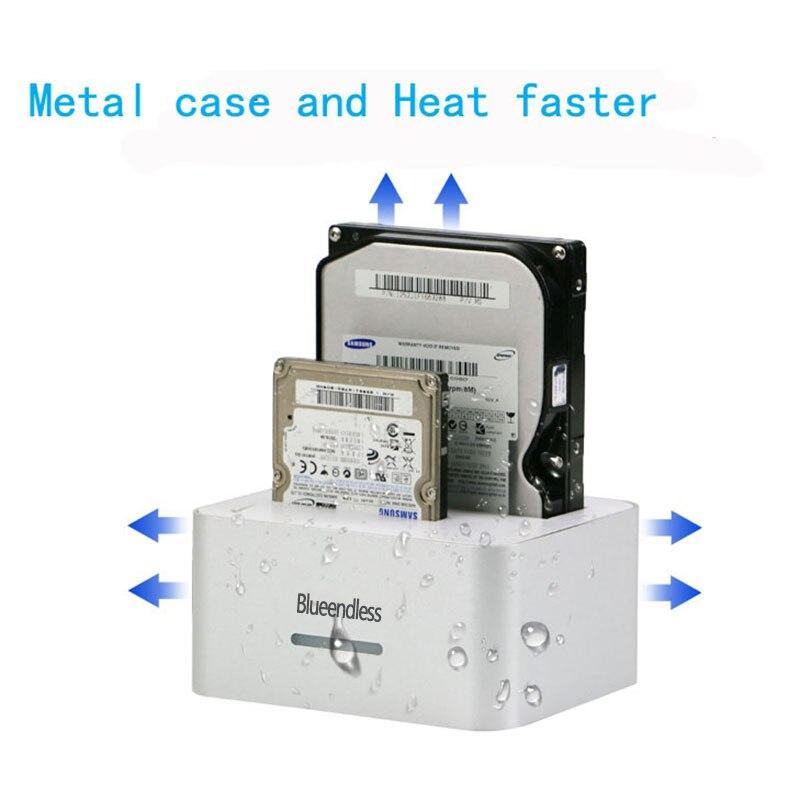 Prix pour En aluminium dock station hdd usb cas sata 2.5 3.5 disque dur cas hd externo usb 3.0 disque dur externe disque dur d'accueil station