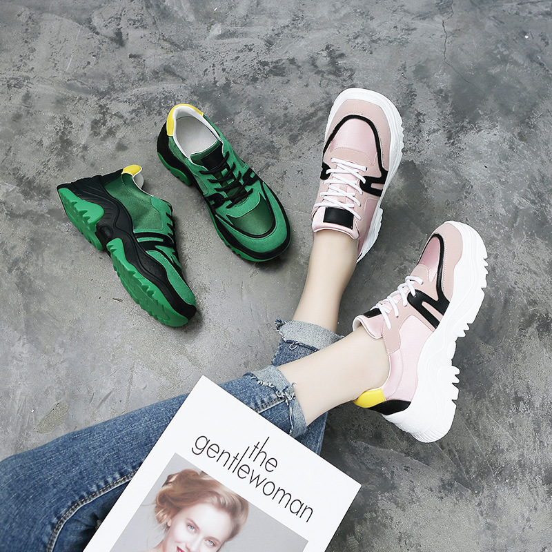... chaussure Lady Sneakers Shoes Suede Quality Green Fashion footware STAR  Cow Platform Women EARTH Female Autumn ... 911082d96c3f