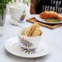 Rice Bowls Ceramic Bowl Deep Dish Ware Round Tray Ra mage Dinnerware Set Multi Functions Salad Ware Kitchen Utensils Kitchenware