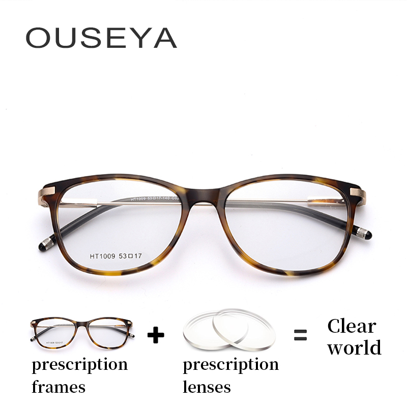 Acetate <font><b>Men</b></font> <font><b>Prescription</b></font> <font><b>Glasses</b></font> Optical Fashion Transparent Myopia <font><b>Progressive</b></font> Reading Eye <font><b>Glasses</b></font> <font><b>Men</b></font> Optical #HT1009 image