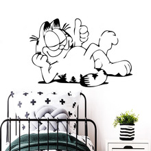 Drop Shipping Garfield Vinyl Kitchen Wall Stickers Wallpaper For Bedroom Decoration Accessories Murals