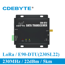 Get more info on the E90-DTU-230SL22 LoRa RS232 RS485 230MHz RSSI Relay IoT vhf Wireless Transceiver Module 22dBm Transmitter and Receiver