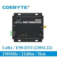 E90 DTU 230SL22 לורה RS232 RS485 230MHz RSSI ממסר IoT vhf אלחוטי משדר מודול 22dBm משדר ומקלט