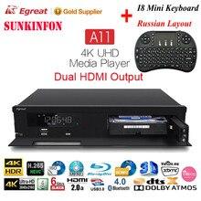 A11 4 K Ultra HD Android Caixa de TV Egreat Hi3798CV200 2T2R WI-FI Gigabit LAN HDR10 Blu-ray 3D Dolby DTS ÁTOMOS X VIDON 2 Media Player