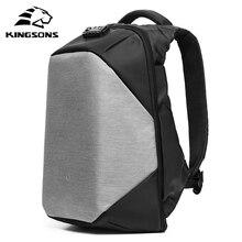 KINGSONS diebstahl Wasserdicht 15,6 Zoll Laptop Rucksack Neues Design für Männer und Frauen Computer Bag Travel Business Heißer verkauf