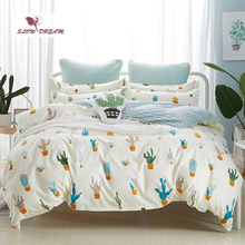 SlowDream Cactus Bedding Set Bedspread Bed Linens Euro Bedclothes Double Queen King Duvet Cover Sheet Nordic