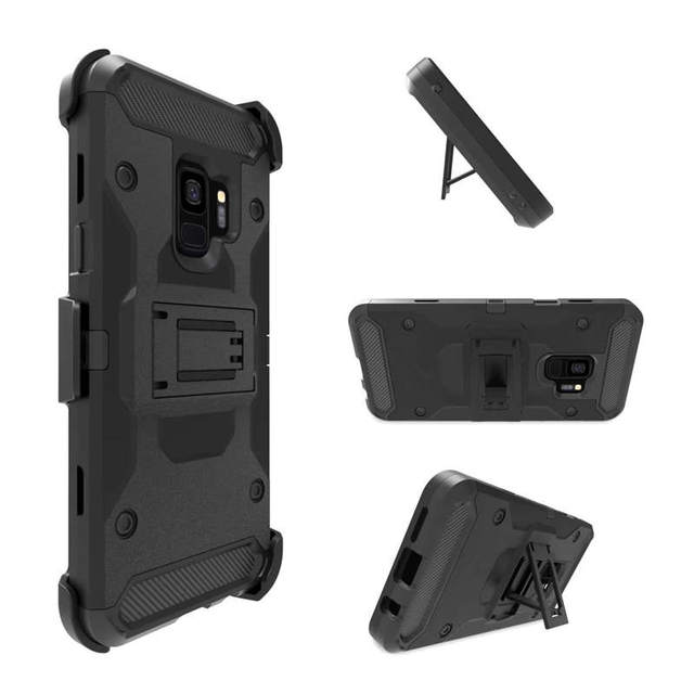 online retailer cc047 8e587 US $5.59 20% OFF|Tough Armor Belt Clip Defender case for Samsung Galaxy S9  Shockproof 3 in 1 PC TPU Rugged Durable Kickstand Cover for S9 Plus-in ...
