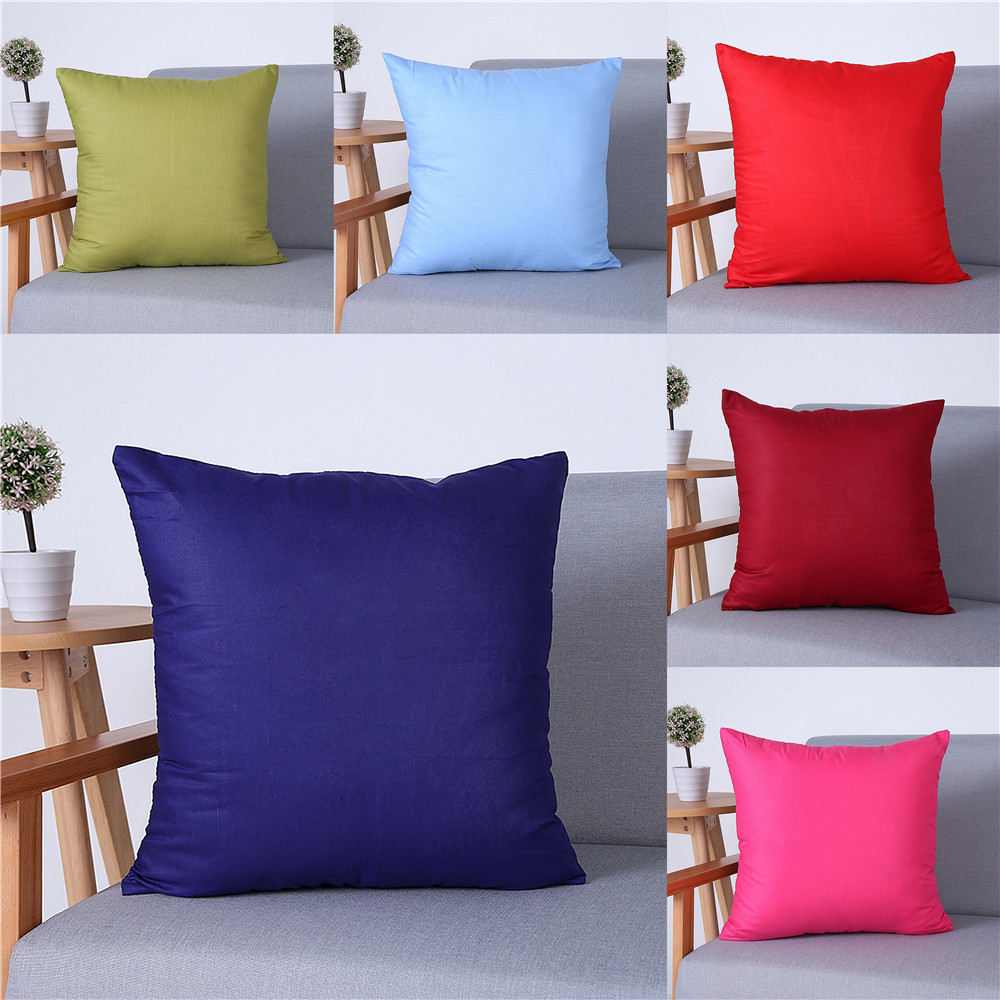 Solid Throw Pillow Cover Without Filling For Car Chair