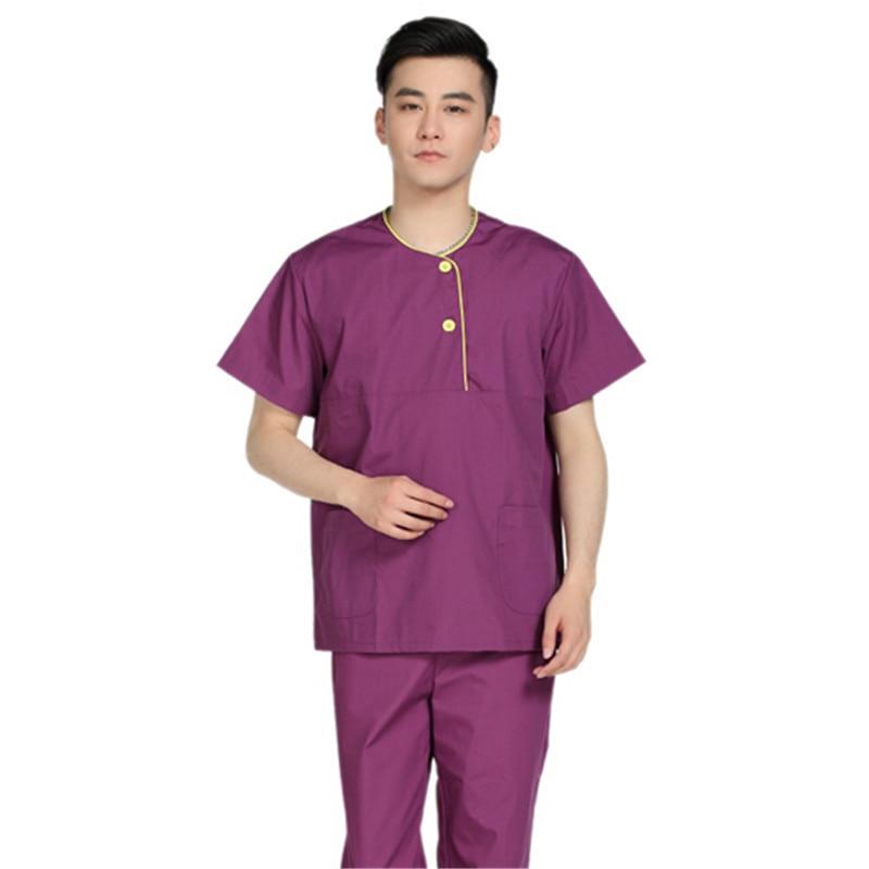 New Arrival Custom Fashion Fashion Design Male Medical Scrub Sets Short Sleeve Sleeve