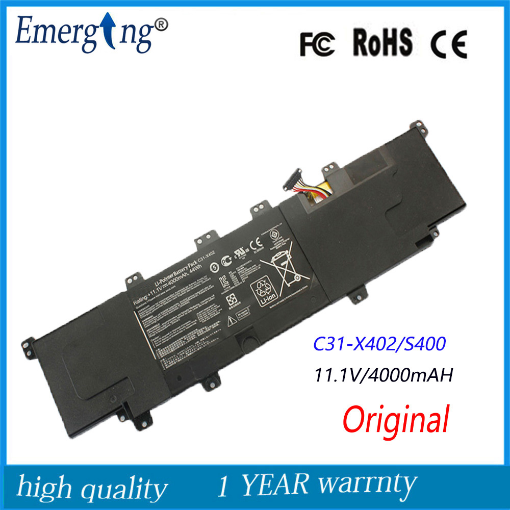 11.1V 44WH New Genuine Original Laptop Battery for ASUS VivoBook S300 S400 S400C S400CA S400E C31-X402 цена