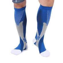 941037076 1 par Meias De Compressão Para A Execução de Esportes Caminhadas Basquete  Futebol Suporte Muscular Varizes