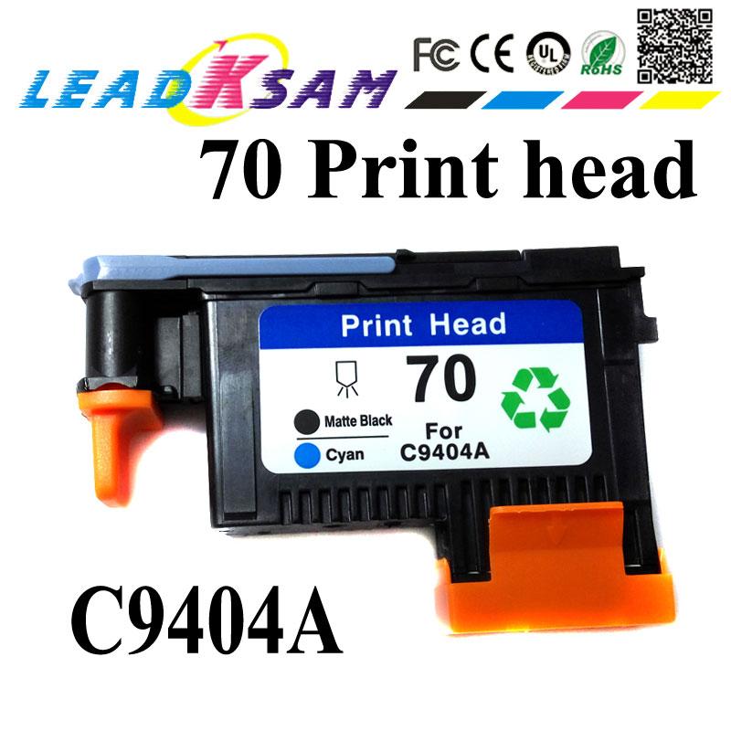 1x Printhead 70 Matte Black Cyan C9404a Compatible For Hp70 Designjet 2300/t610/ T620/t770/t790/t1100/t1120/t1200/ T1300/t2300 Beautiful And Charming