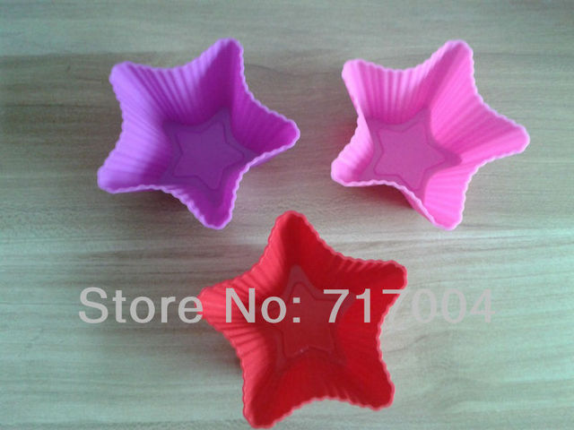 Free Shipping Wholesale DIY Star-shaped Silicone Cake Mold/Cake Cup Mold /handmade soap mold /Kids Christmas bakeware